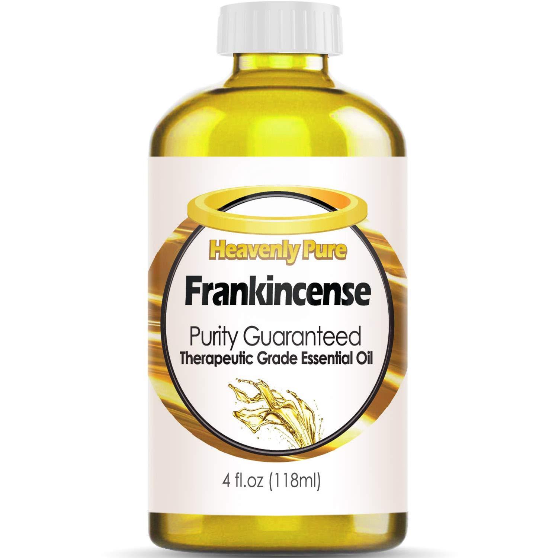 Heavenly Pure Frankincense Essential Oil 100% Pure & Natural Frankincense Aroma Therapeutic Grade Essential Oil (Huge 4 OZ - Bulk Size)