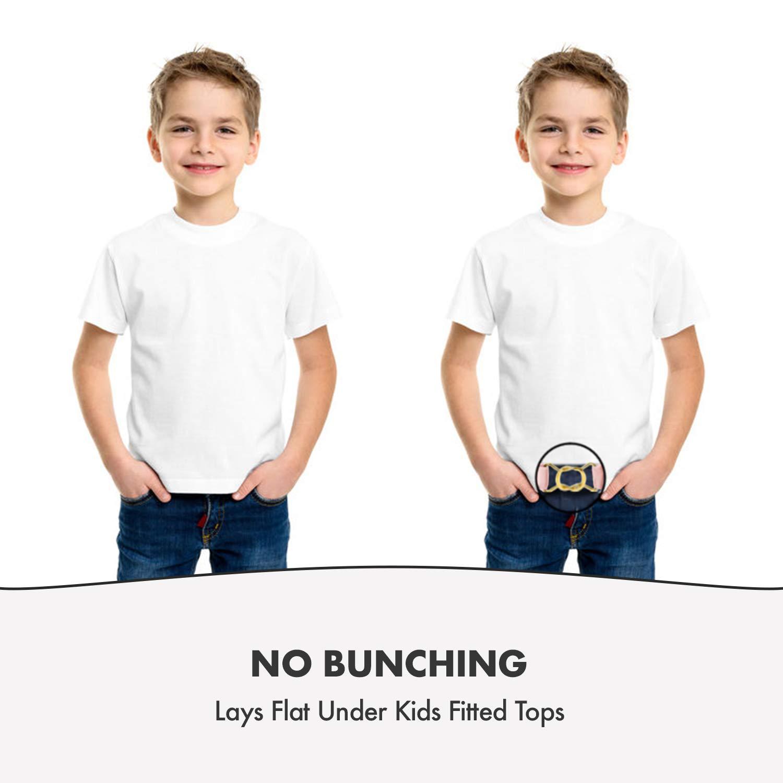 Hold/'Em Kids Toddler Clasp Gold Buckle Belt-White