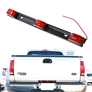 Amazon ijdmtoy red 3 lamp trucktrailer id led light bar for ijdmtoy red 3 lamp trucktrailer id led light bar for ford f sciox Choice Image