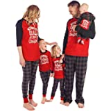 Baonmy ELF Christmas Holiday Family Matching Sleepwear Pajamas Set