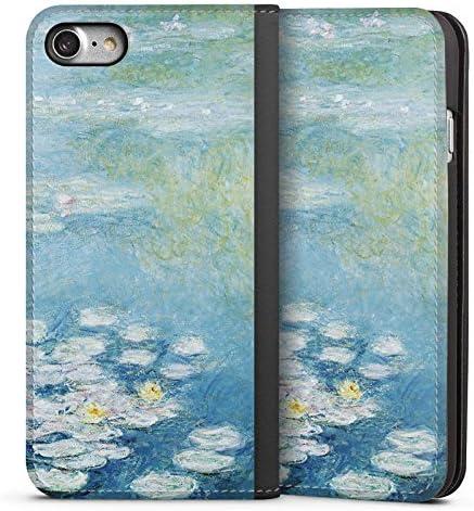 DeinDesign Leder Flip Case kompatibel mit Apple iPhone 8 Tasche H/ülle Seerosen Claude Monet Gemaelde