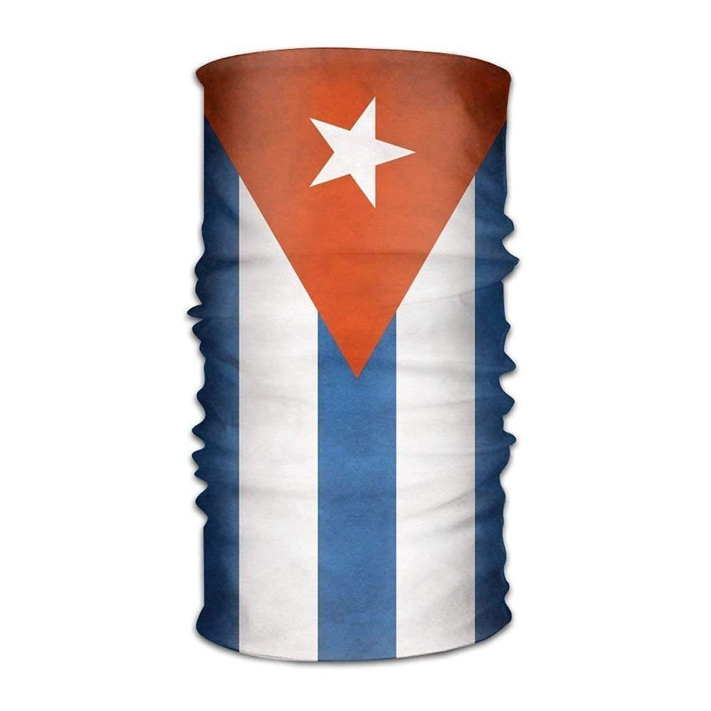 Unisex Stylish Cuban Flag Quick Dry Microfiber Headwear Outdoor Magic Bandana Neck Gaiter Head Wrap Headband Scarf Face Mask Ultra Soft Elastic Handscarf