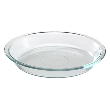 Pyrex Glass Bakeware Pie Plate 9  x 1.2  Pack of 2