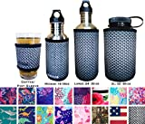 Koverz Neoprene 24-30 oz Water Bottle Insulator Cooler Coolie - Carbon Fiber
