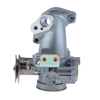 Prettyia 34mm Intake Manifold Throttle Body Plate Assembly