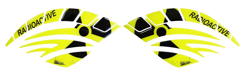 Page Pad de réservoir de 3D 800064Radio Active Jaune Fluo–universel de protection de réservoir pour moto de Réservoirs
