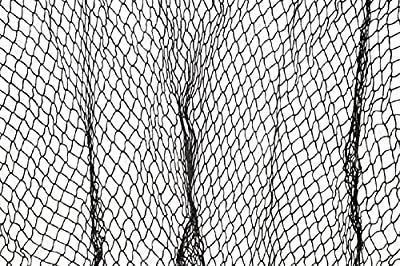 """Authentic Dark Grey Fish Netting 5"""" x 10"""" - Perfect For Nautical Theme Parties, Dorms, Patio & Garden, Seafood Restaurants and Wall Hangings"""