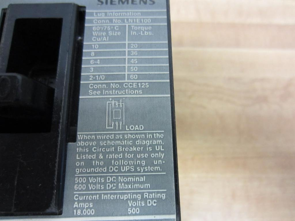 ED63B100 Type ED6 Sentron Circuit Breaker by SIEMENS: Amazon.com ...