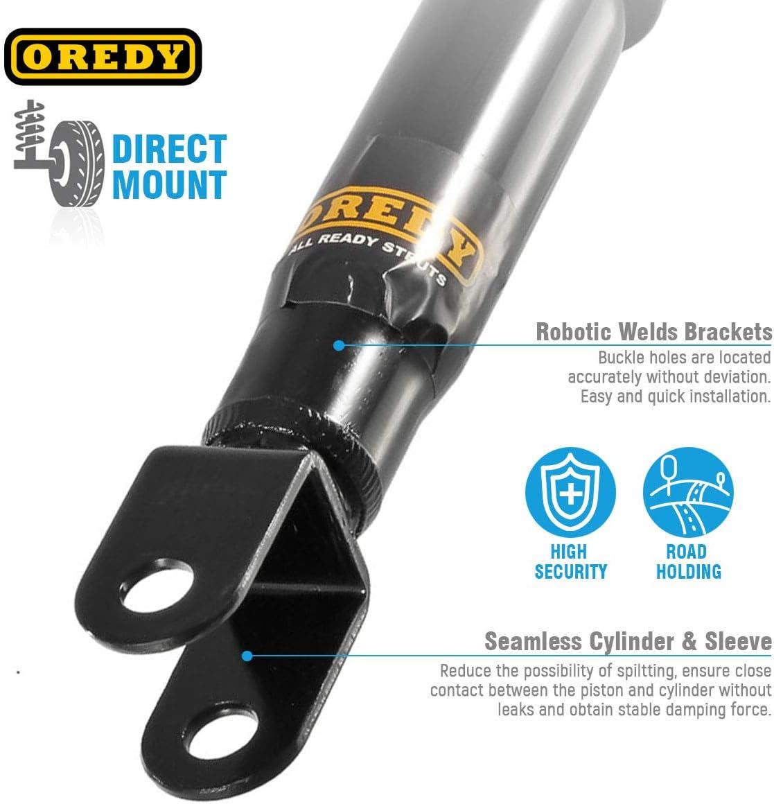 OREDY Front Rear Shock Absorbers Shocks Strut Kit 344381 37151 344386 37152 Compatible with Silverado//Sierra 1500 4WD 1999 2000 2001 2002 2003 2004 2005 2006