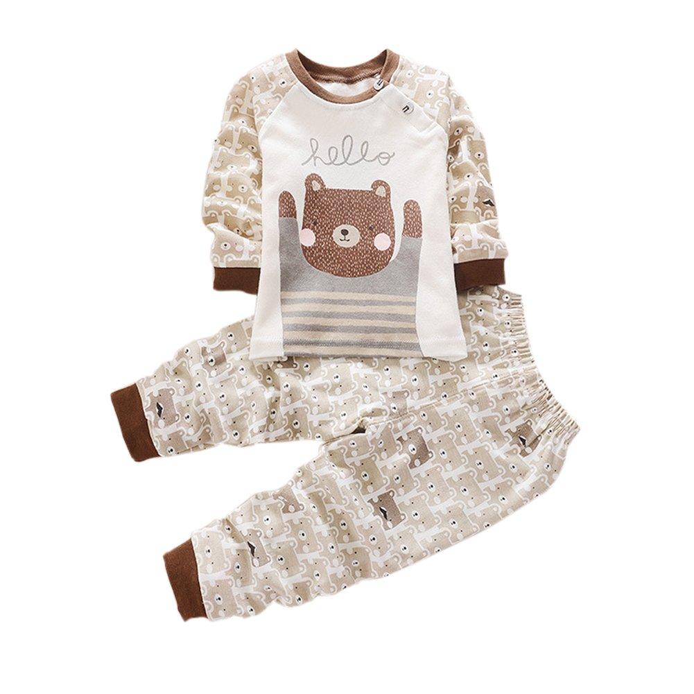 5b73485a09b2 Amazon.com  Zhengpin Toddler Baby Kids Boy Girl Nightwear Sleepwear ...