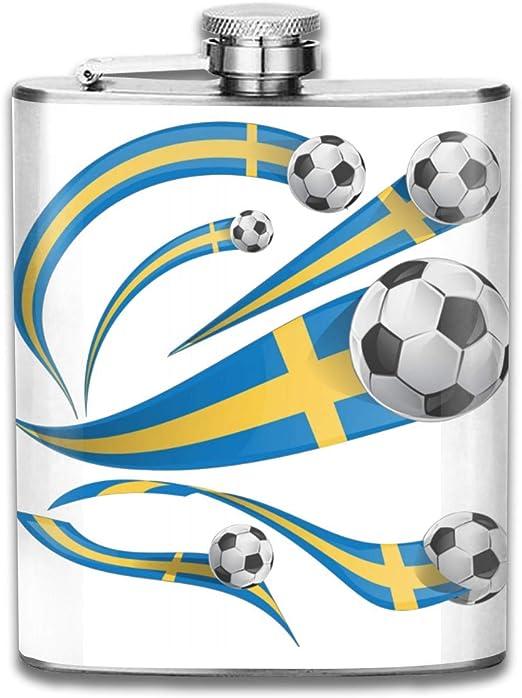 Petaca pequeña de acero inoxidable, diseño de bandera de Suecia ...