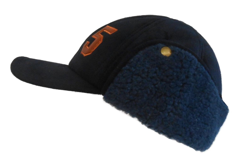 Kinder Basecap Baseballcap mit Ohrenklappen Funktionsmütze Nackenschutz Gr. 49/50 bis 55/56 Wildleder Imitat