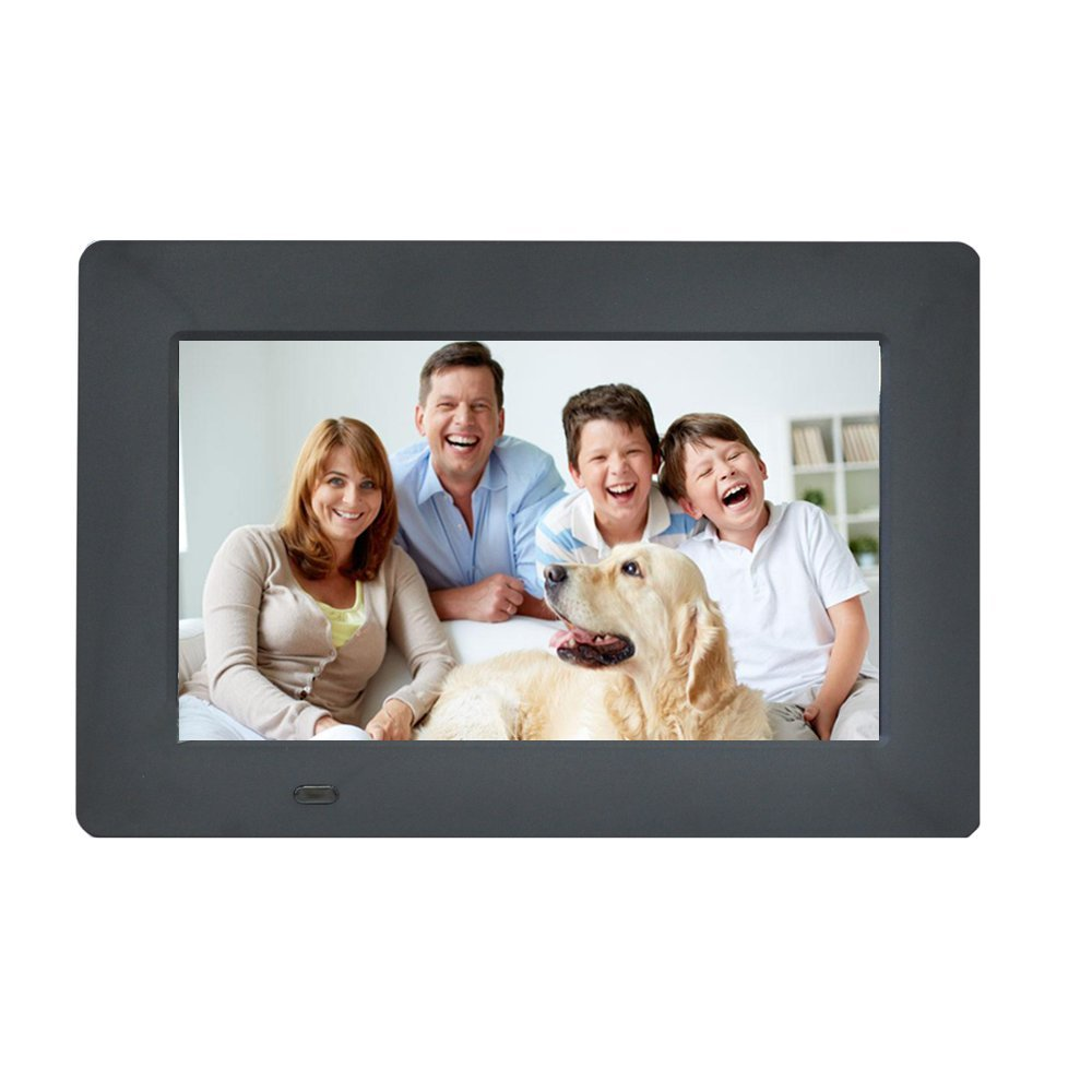 Digital Picture Frame 7-Inches by EMOKILI Digital Photo Frame 1024X600 IPS Screen Resolution with 720P Video Play