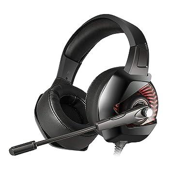 onikuma K6 Gaming Headset con luz LED y micrófono Stereo Sound ...