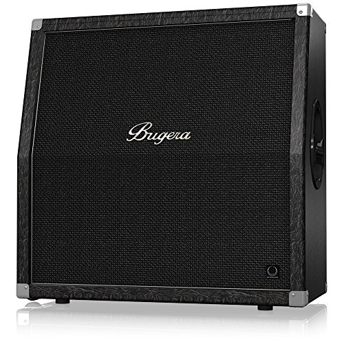 BUGERA 412TS Classic 4 X 12 200-Watt Half-Stack Guitar Cabinet with Original Turbosound Speakers Black