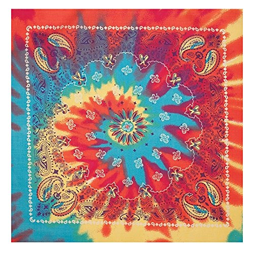 CoverYourHair Tie Dye Paisley Bandana - Colorful Bandana - Rainbow Colored -