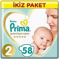 Prima Bebek Bezi Premium Care 2 Beden Mini Ekonomi Paketi 58 Adet