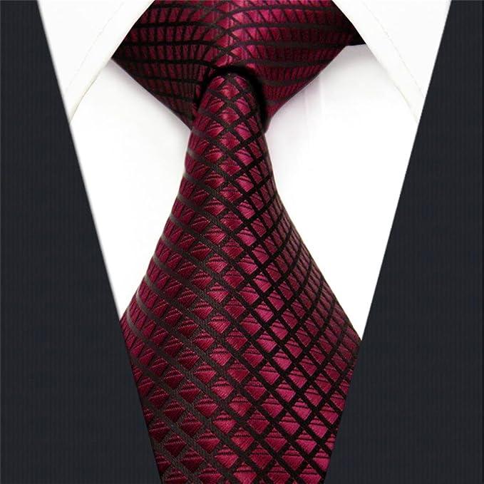 shlax&wing Men's Necktie Solid Red Wedding Silk dDJ50F2jP