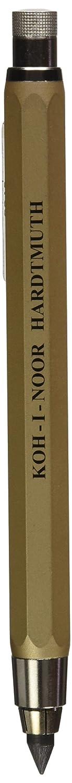 Fallbleistift//Druckbleistift 3er SET Minenst/ärke 5.6mm KOH-I-NOOR 5340 GOLD und SILBER und SCHWARZ
