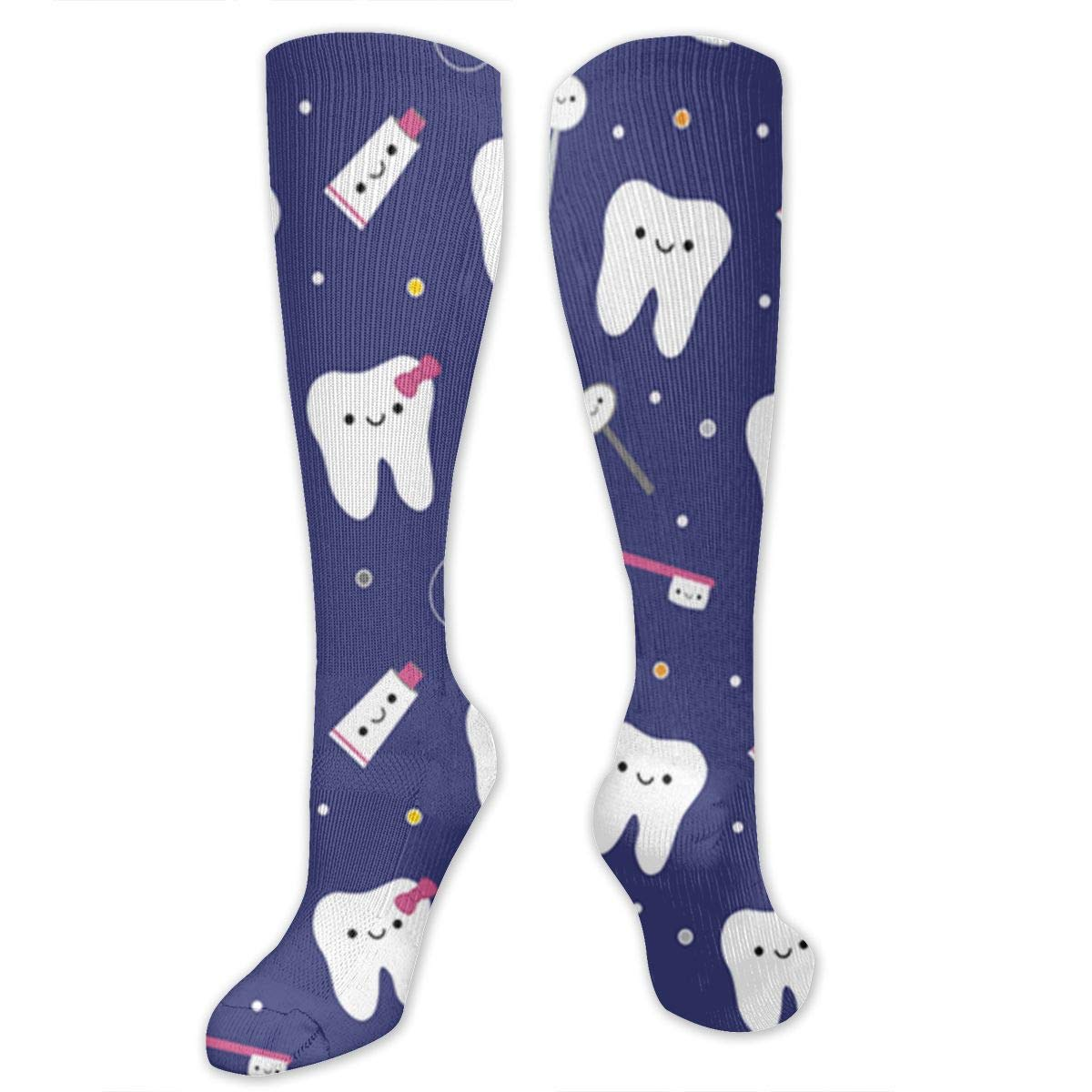 Best Medical,for Running Varicose Veins Travel Ygsdf59 White Teeth Compression Socks for Women and Men Athletic