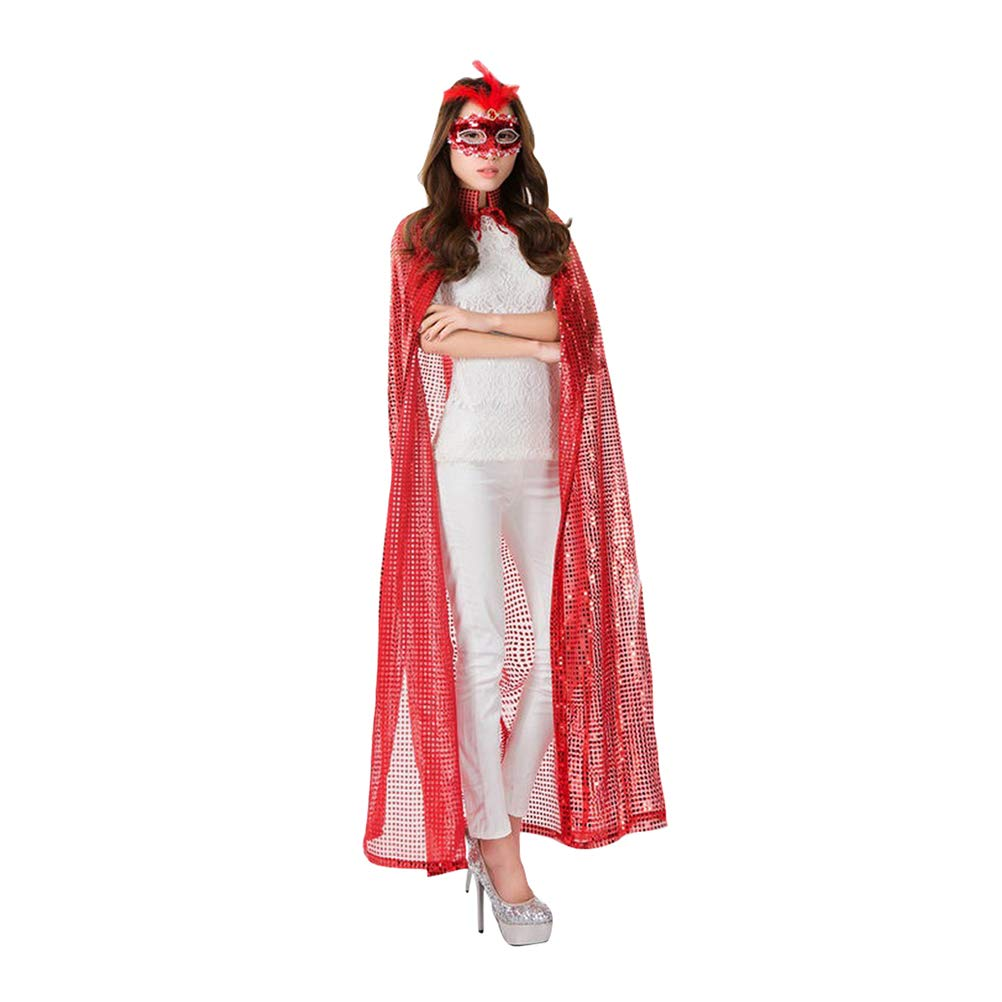 Sequin Cloak with Hood - Elvish Robe Cape Cosplay Costume for Men Women Zhhlinyuan