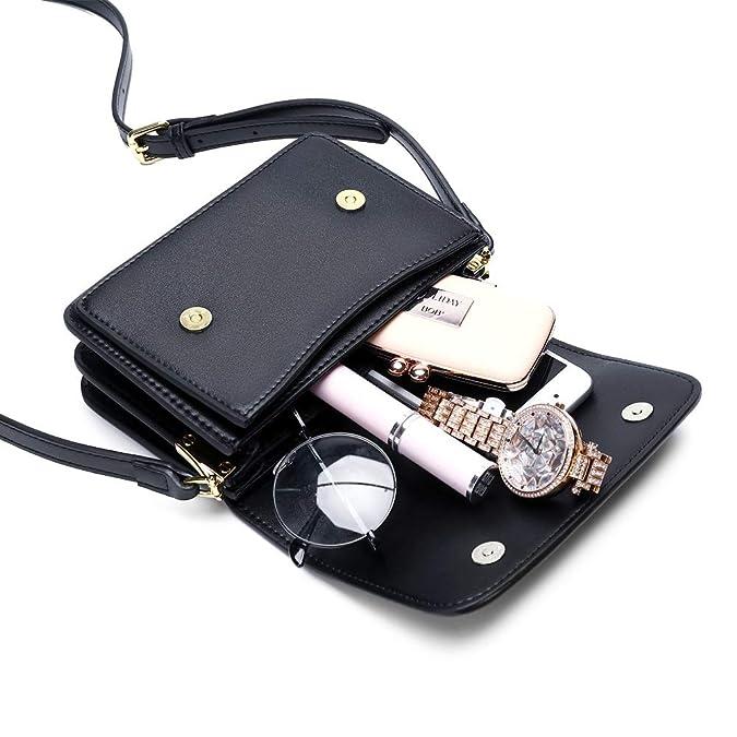 Amazon.com: KRIS BAG - Bolso bandolera de piel para mujer ...
