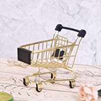 1 PC Mini Metal Shopping Cart Supermarket Handcart Trolley Kid's Toys for Office Home Novelty Decoration Creative…