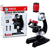 PHOEWON Microscope Enfant 100x 400x 1200x Grossissement Kit de Microscope Scientifique Enfant Microscope Set pour Kids l'éducation Précoce