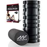 Mayofit Foam Roller/Yoga Roller - Deep Tissue Massage, Trigger Point Foam Roller for Relief of Back Pain, Aching, Tight Muscles Related to Sport and Exercise. 2-Piece for Beginner and Advanced By
