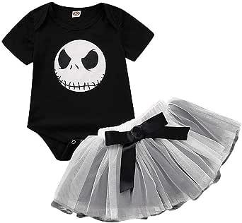 MYONA Vestido de Halloween Nina, Bebé Mono Mameluco Impresión de ...