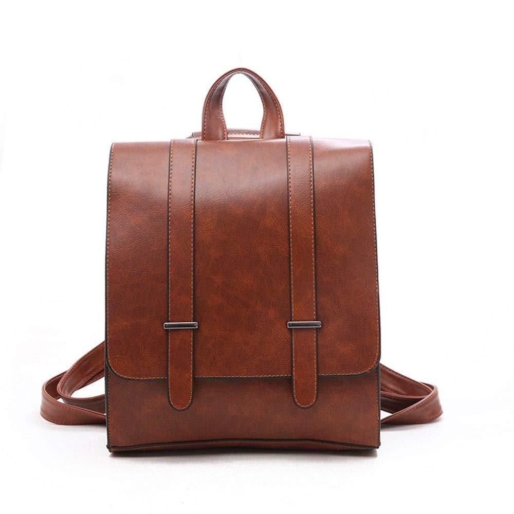 Brown DYR Travel Backpack Lady Backpack Student Bag Outdoor Sports Bag Casual Shoulder Bag Tote Messenger Bag