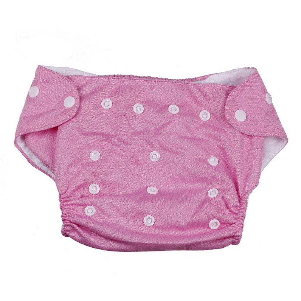 EOZY Bébé Maillot Couche Polyester avec Des Petits Boutons pour Des Bébé Filles Garçons de 3 à 13kg Rose