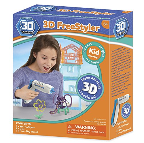 3D Maker – 3D Freestyler – Coffret Pistolet à Gel + 2 Tubes