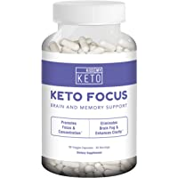 Kiss My Keto Brain Support Supplement - 90 Vegetable Capsules, Nootropic Supplement for Memory, Focus, and Mental Clarity with B12, L-Tyrosine, Ginkgo Biloba, DMAE, Ashwagandha, Lion's Mane, More