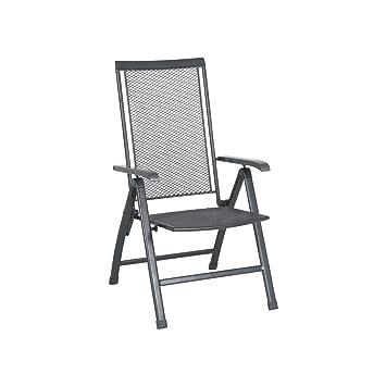 Hochwertig Greemotion Klappsessel Toulouse Premium Eisengrau, 5 Fach Verstellbare  Rückenlehne, Stuhl Mit Kunststoffummanteltem Stahl