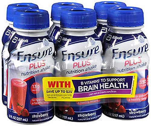 Ensure Plus Strawberries and Cream Shake, 24 - 8 oz by Ensure