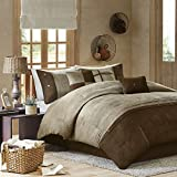 madison park boone 7 piece comforter set california king brown