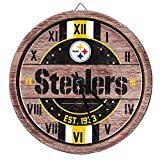 Pittsburgh Steelers NFL Barrel Wall Clock