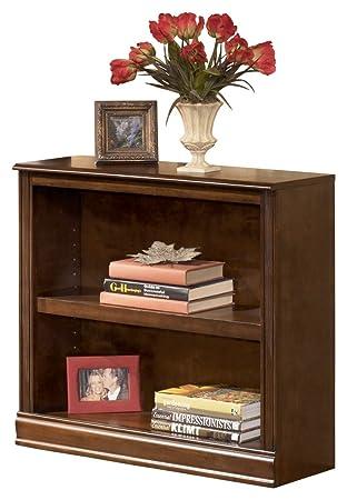Ashley Furniture Signature Design   Hamlyn Bookcase   Short Open Cabinet    Medium Brown