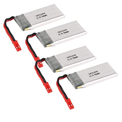 WOSOSYEYO 4 UNIDS 3.7 V 900 mAh Li-po Batería para 8807 / 8807W RC ...
