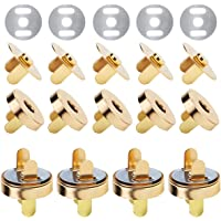 Faxco 50 Sets 18mm Magnetic Button Clasp Snaps(Gold), Magnetic Button Clasp Snaps for Sewing, Craft, Purses, Bags…
