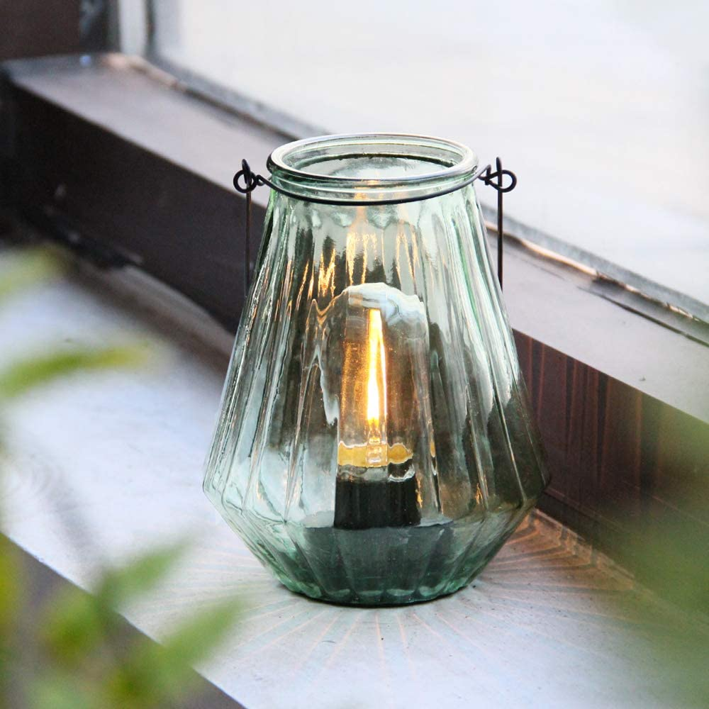 Cordless Lanterns Battery Powered Lamps, Decorative Hanging Battery Operated Nightlight with LED Bulb with Timer, Outdoor Indoor Decor Lights for Home Hallway Bedroom Tabletop Fireplace Party(LG)