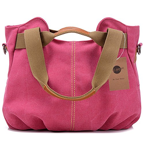 Z-joyee Women's Ladies Casual Vintage Hobo Canvas Daily Purse Top Handle Shoulder Tote Shopper Handbag Satchel Bag -