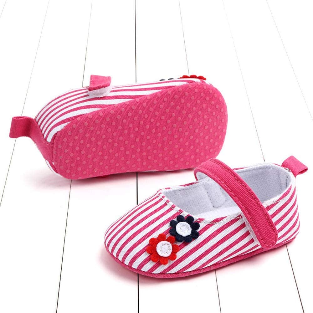 Newborn Baby Cute Girls Striped Flower Princess First Walkers Soft Sole Shoes Pandaie Baby Boy /& Girl Shoes