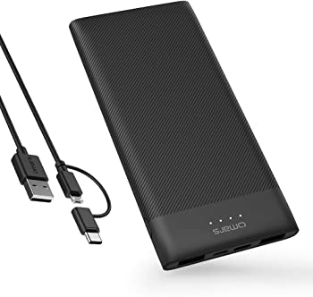 Omars 10000mAh USB C Portable Power Bank