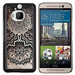 Eason Shop / Premium SLIM PC / Aliminium Casa Carcasa Funda Case Bandera Cover - Arte Dibujo Tinta Negro Blanco - For HTC One M9+ M9 Plus