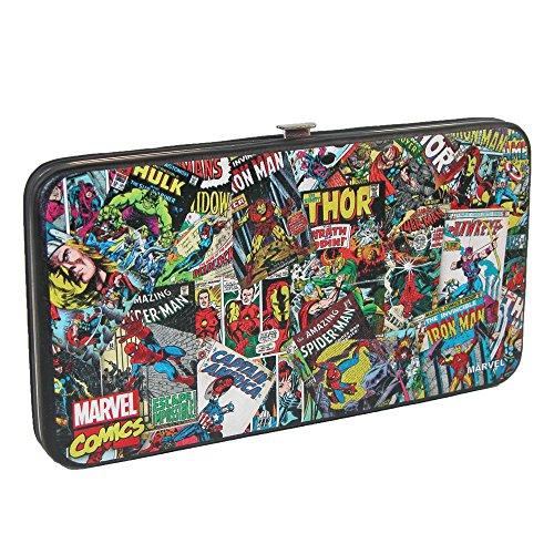 Hinge Wallet (Buckle-Down Hinge Wallet - Retro Marvel Comic Books Stacked)