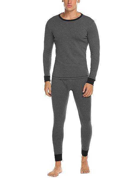 Amazon.com: Ekouaer - Conjunto de ropa interior térmica y ...