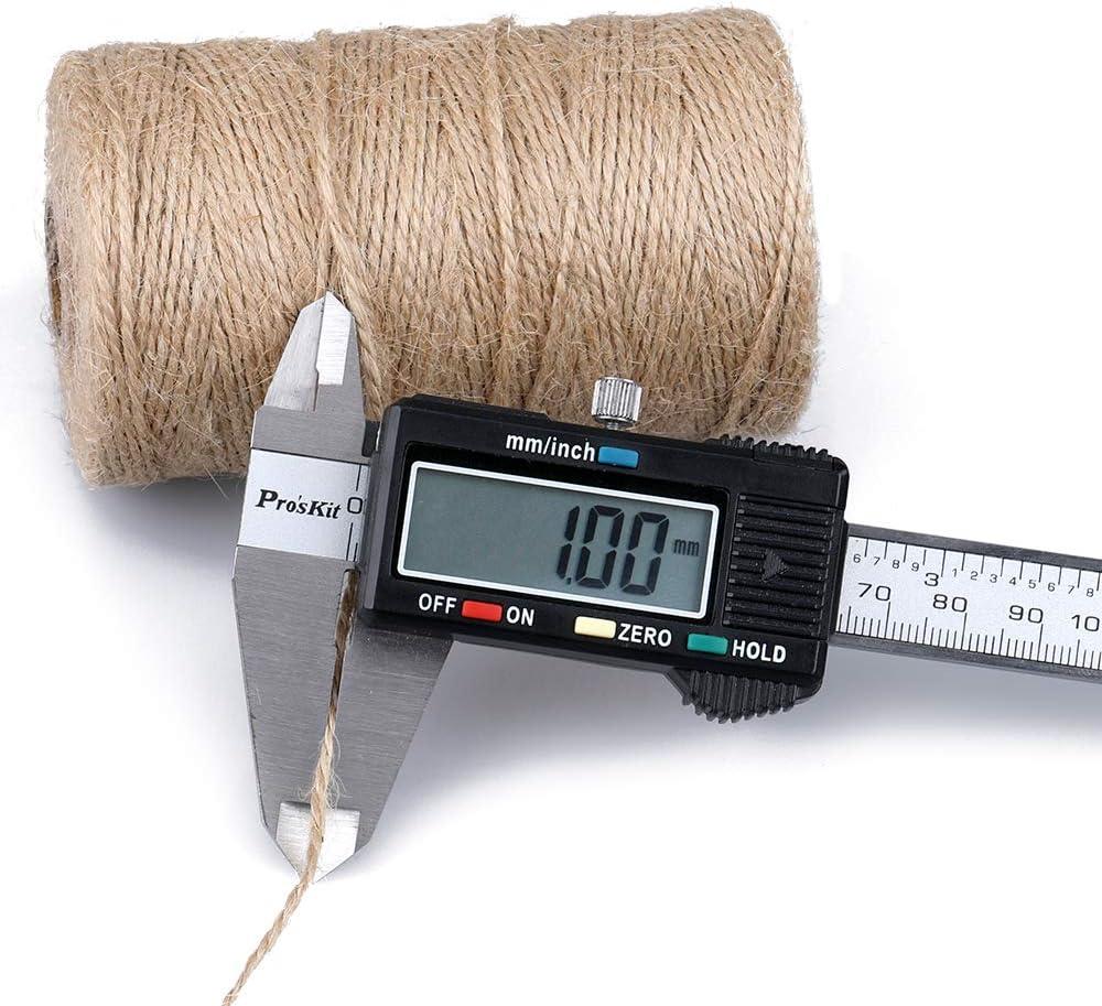 DIY travaux manuels et darts faite /à la main Toile de jute Naturel G2PLUS Craft Boulanger Boucher 200/m Fil de coton durable Corde Id/éal pour la cuisson