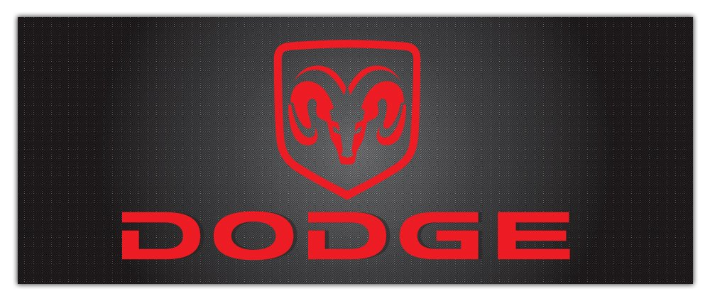 54 x 144 Dodge Fabric Mesh Banner With Grommets